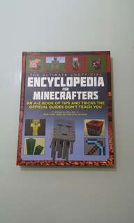 Like new! 60%off! Encyclopedia for Minecrafters  (A-Z) hardcover