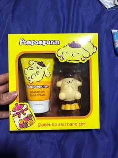 Pompompurin Lip and hand cream set
