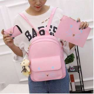 [FREE POSTAGE SM] 3 in 1 Korean Style Backpack Cat Fashion