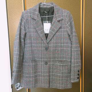 🚚 格紋西裝外套
