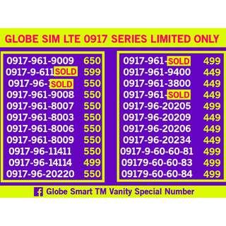 Globe 0917 Sim Card