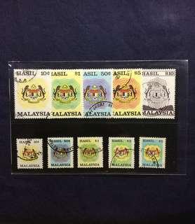 1990 Revenue Stamps Lot of 10v
