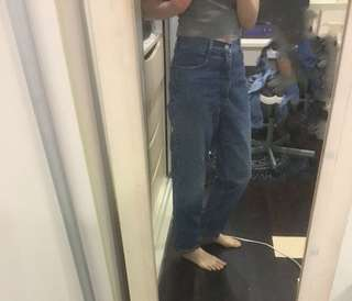 🚚 復古高腰牛仔褲vintage