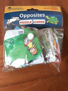 Learning resources opposites puzzle
