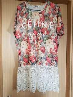 Korea Celine Dion 連身裙🌺🌼🌹