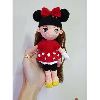 Amigurumi Doll in Minnie Mouse Costume