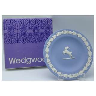 英國wedgwood 十二星座 山羊座 陶瓷碟 w/Box