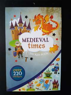 [INSTOCK] BN Medieval Times Sticker Book (over 220 stickers)