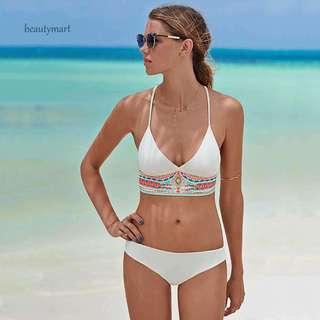 Tribal Line Triangle Bikini