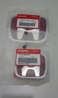 Original Honda FD2 FD2R Type R Front Rear Enblem