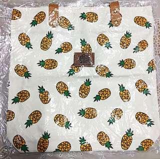 Pineapple Printed Tote Bag