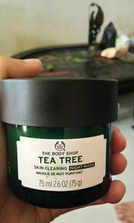 The body shop tee tree night mask.