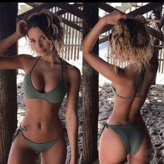 Halter One Line Bikini