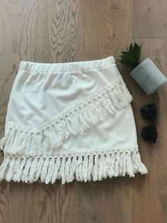 White Tassel Skirt