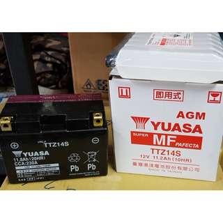🚚 湯淺機車電池 YUASA TTZ14S (9號加強) 重型機車250以上專用