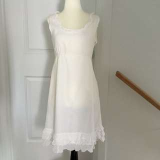 White Esprit Dress
