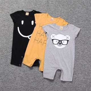 Baby cotton short-sleeved clothing jumpsuit 0-3 years old