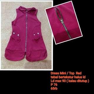 Dress Mini  / Top  Red
