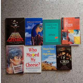 Second - Hand Teenage/Adult Books $0.50 Each (More books in my other listings)