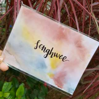 Calligraphy/Watercolour Cards