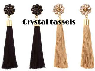 Crystal Tassels Earrings