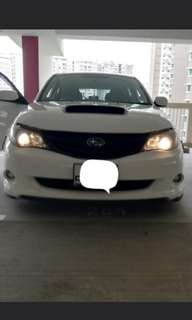 SUBARU ON OUR LED HEADLIGHT BEFORE AND AFTER .