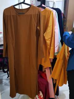 BN Brand new long sleeve long modest top brown