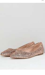 ASOS glitter pointed flats