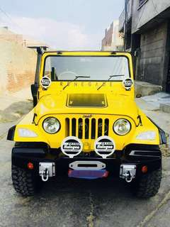A man jeep