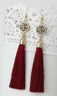 Rose Tassels Earrings