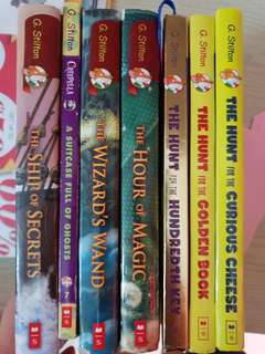 Geronimo Stilton mix of hard and soft cover