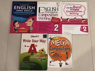 [Mixture of BN & Used] Lower Primary English Compo & Oral Assessment Books