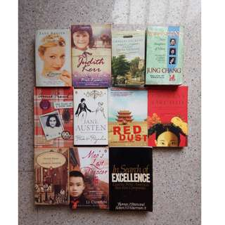 Second - Hand Teenage/Adult Books $3.50 Each (More books in my other listings)