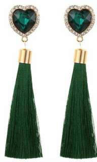 Heart Tassels Earrings