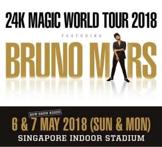 Bruno Mars Concert at Singapore - 7 May