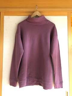 🚚 日牌 Rageblue 紫色高領套頭衫