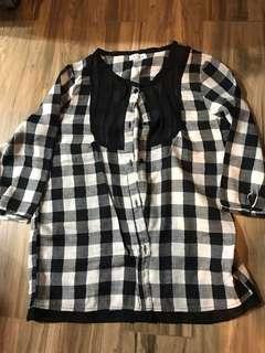 lowrys farm checker shirt 格仔top