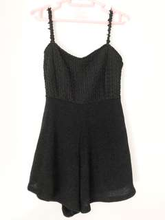 Black Knit Romper