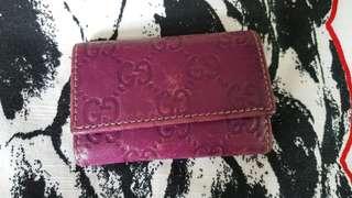 Gucci 紫色 鎖匙包 (100%正貨)