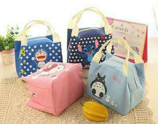 Insulated Thermal Cooler Storage Lunch Bag Hello Kitty/ Doraemon/ Stitch/ Totoro