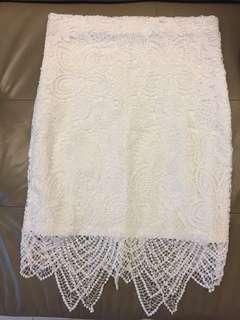 White Lace Skirt & Pattern Skirt