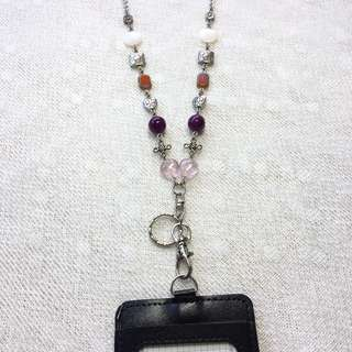 Beaded Lanyard Necklace (Glass Beads, Shell Beads, Acrylic Beads, Charms)