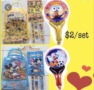 [CHEAPEST] BALLOON WITH GOODIE BAG SET / STATIONERY SET