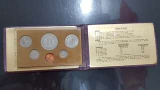 1978 Uncirculated Wallet Coin Set Horse Singapore