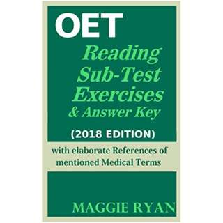 OET: 2018 Reading (All-Professions) Kindle Edition by MAGGIE RYAN  (Author)