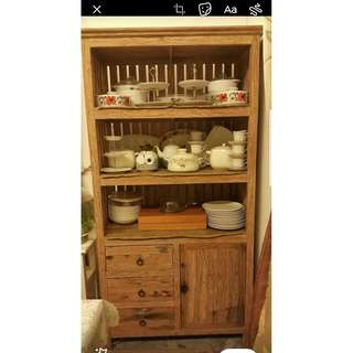 Vintage Buffet and Hutch Cabinet