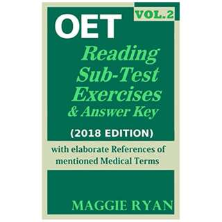 OET: 2018 Reading: VOL. 2 (All-Professions) (OET, #2) Kindle Edition by MAGGIE RYAN  (Author)