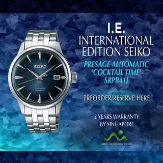 SEIKO INTERNATIONAL EDITION PRESAGE COCKTAIL TIME AUTOMATIC MADE IN JAPAN SRPB41