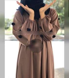 Dubai Abaya with black flower