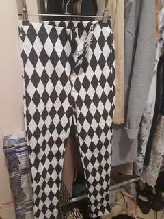 Zara basic checkered pants